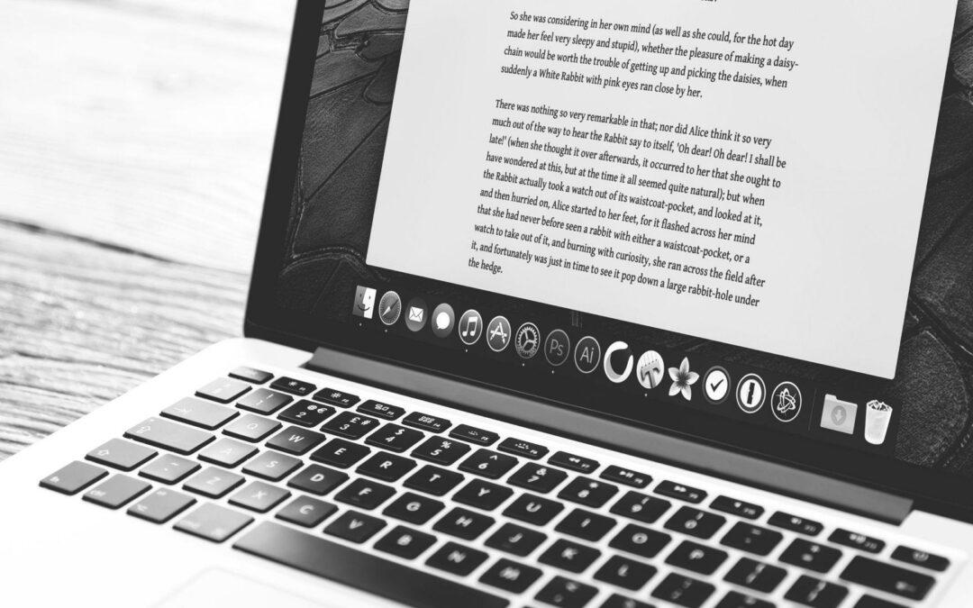 Script written in a laptop as a draft.